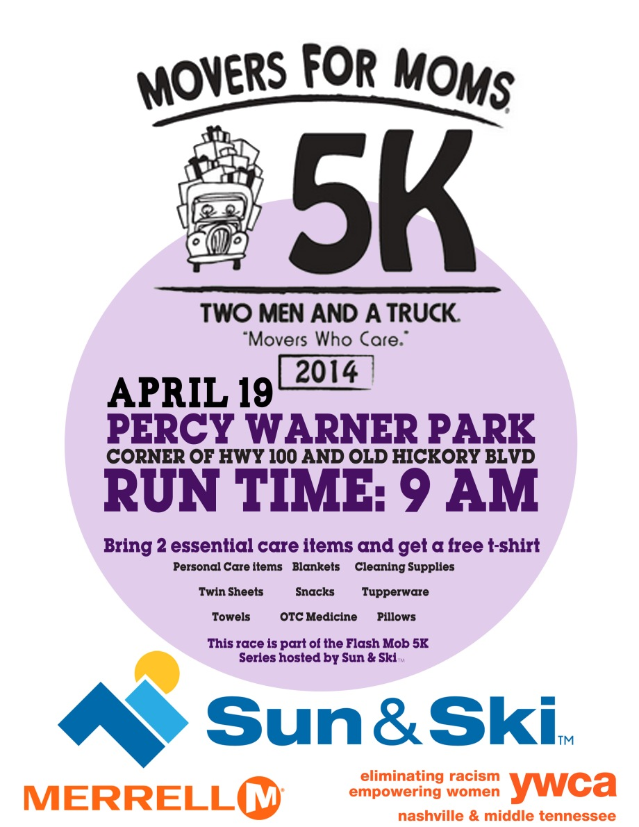 Movers for Moms Free 5K this Saturday!!!